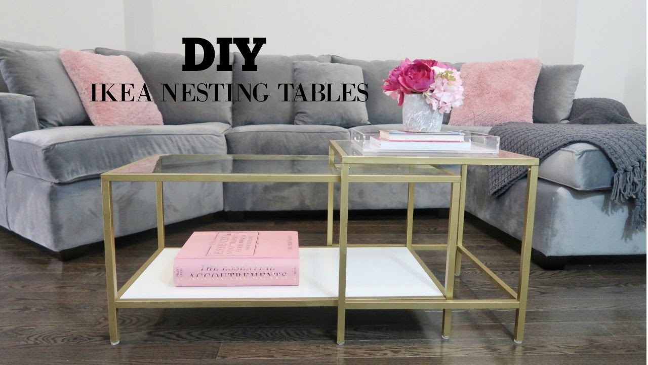 DIY IKEA COFFEE TABLE MAKEOVER YouTube