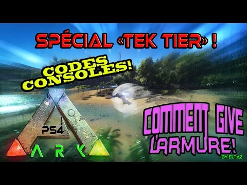 ARK CODES TEK TIER Consoles XBOX-PS4/FR Special give armure!