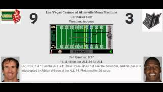Week 15: Las Vegas Casinos (9-5) @ Allenville Mean Machine (11-3)