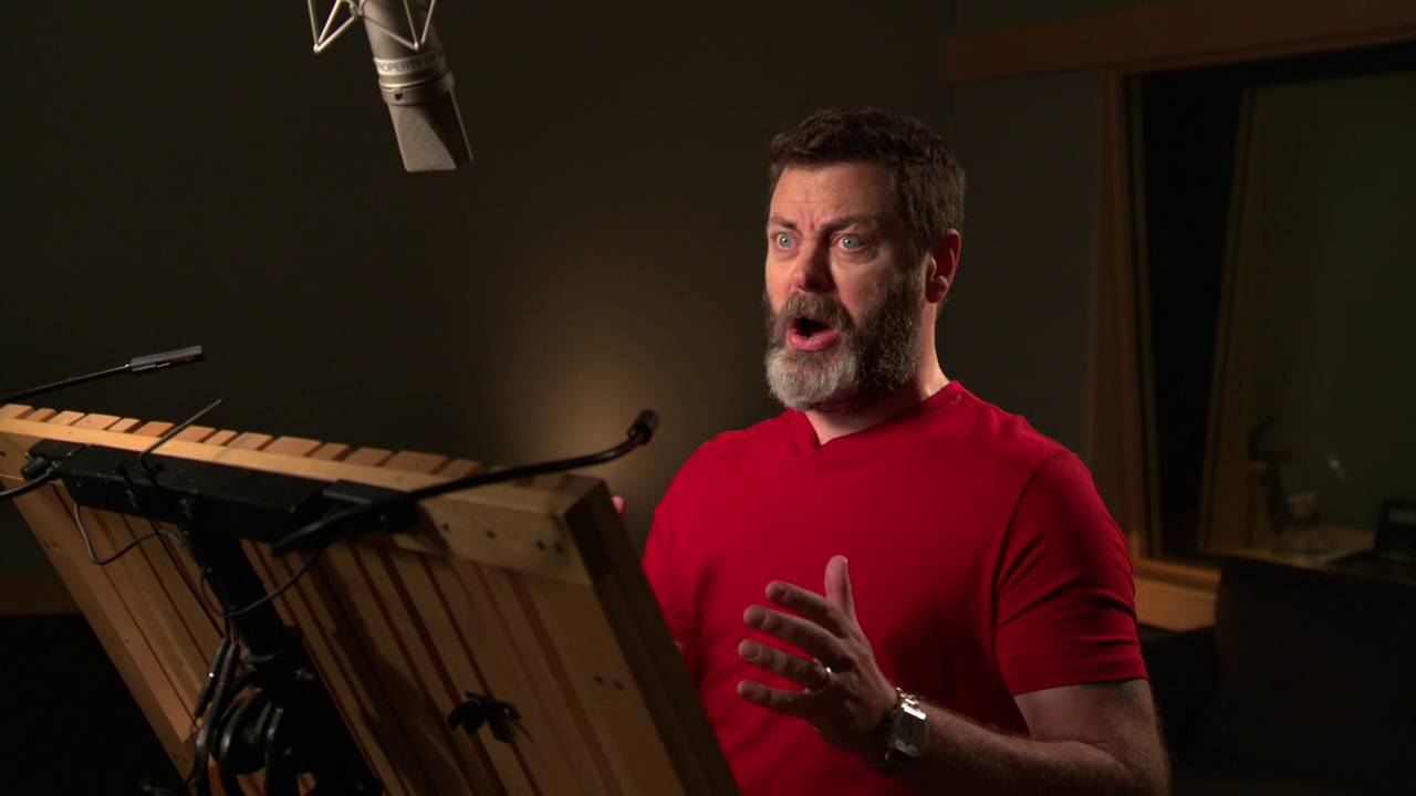 """Download Ice Age: Collision Course: Nick Offerman """"Gavin"""" Behind the Scenes Voice Recording"""