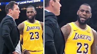 LeBron James Confronts Luke Walton During Game vs Blazers