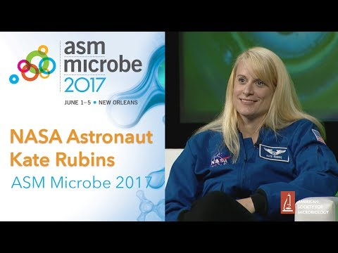 Microbiologist and NASA astronaut Kate Rubins at ASM Microbe 2017