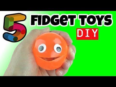 NEW! 5 EASY DIYS - DIY FIDGET TOYS - DIY TOYS FOR KIDS TO MAKE USING HOUSEHOLD MATERIALS