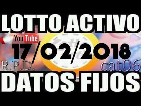 LOTTO ACTIVO DATOS FIJOS PARA GANAR  17/02/2018 cat06