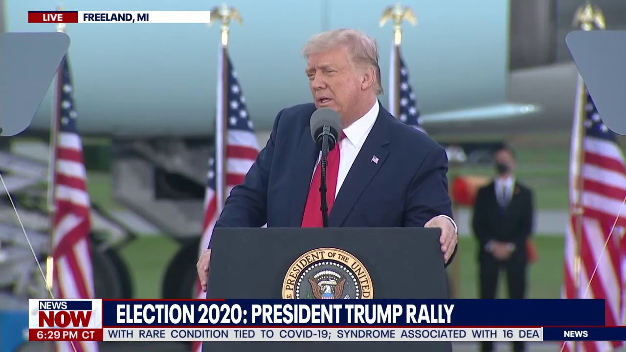 FULL RALLY: President Trump campaigns in Freeland, Michigan