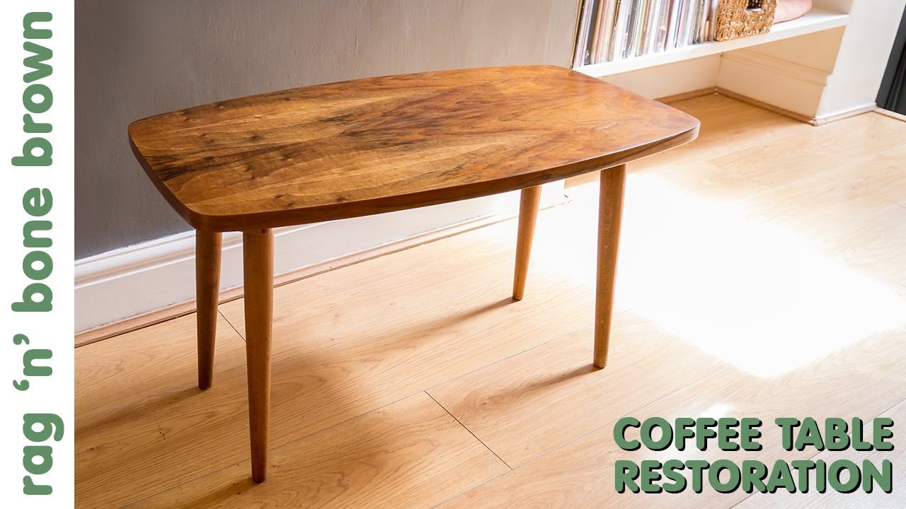 restoring a mid century modern style coffee table