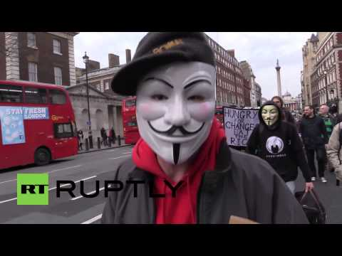 UK: London protesters march for freedom from corporatism