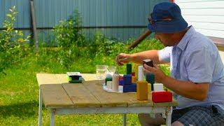 Как сделать деревянные кубики своими руками.  Детский развивающий набор для малышей.