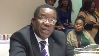 Chairperson Bongani Majola welcomes CEO Tseliso Thipanyane