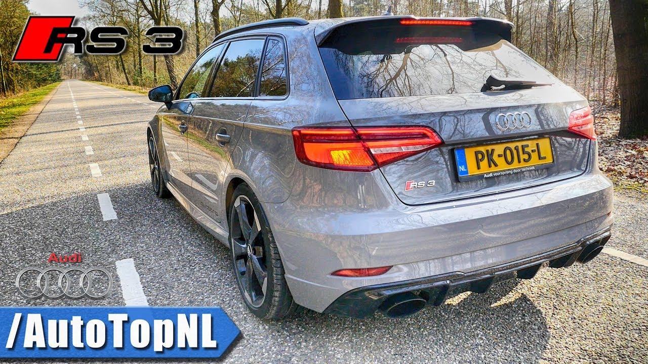 Audi RS3 2018 | LOUD! Exhaust SOUND & REVS | 291km/h ONBOARD by AutoTopNL