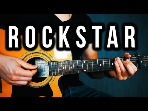 Post Malone - rockstar ft. 21 Savage - Guitar Lesson | Easy Acoustic Guitar Tutorial (With Chords)