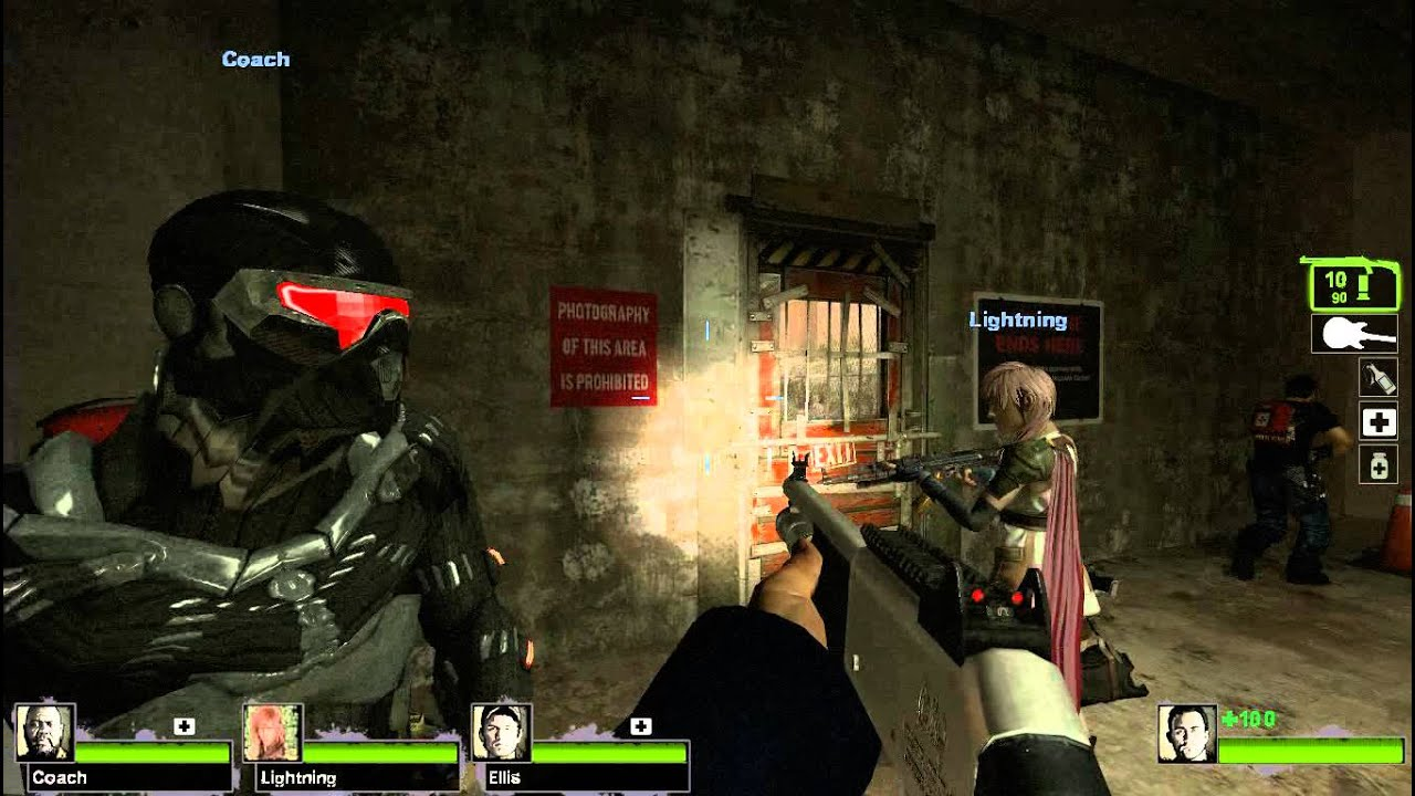Left 4 Dead 2 Mods (Final Fantasy XIII, Crysis,...) - YouTube