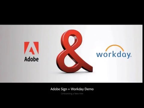 Adobe Sign and Workday Integration — Onboarding