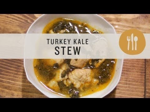 Superfoods - Kale and Turkey Stew