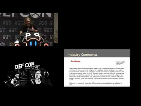 DEF CON 23 - Cross and Anderson - Do Export Controls on Intrusion Software Threaten Vuln Research