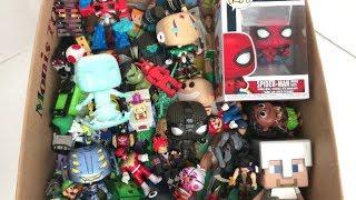 Box of Toys Funko POP! Spider-Man Hydro-Man Ultron Box Full of Action Figures Mario Hulk Roblox