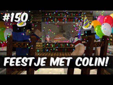 Minecraft survival #150 - FEESTJE MET COLIN!