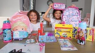Elif Öykü ve Masal OKUL Alışverişinde Kids Back To School Shopping 2018 Funny Kids s