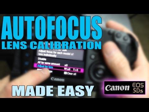 Canon 5Ds: How to calibrate DSLR lenses - AutoFocus Lens Calibration