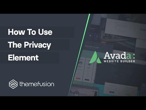 How To Use The Privacy Element Video