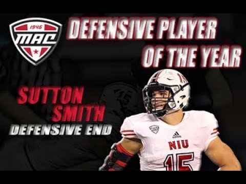 low priced 79205 34b8f NIU Defensive End Sutton Smith