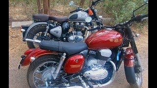 Jawa 42 or Royal Enfield Classic 350   Comparison Video