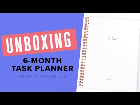 Men Who Bullet Journal: Unboxing The Appointed 6-month Task Planner