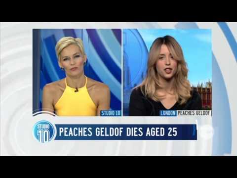 Last Peaches Geldof   Studio 10