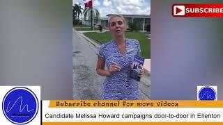 Candidate Melissa Howard campaigns door-to-door in Ellenton