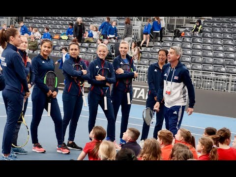 Johanna Konta and Katie Swan excited by Fed Cup return to Great Britain