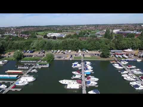 Aerial view of Priory Country Park, Bedford, UK