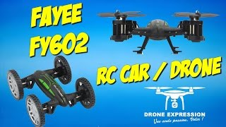 PRESENTATION UNBOXING REVIEW FLIGHT TEST FRENCH DRONE-RC CAR FAYEE FY602 GEARBEST DRONE EXPRESSION