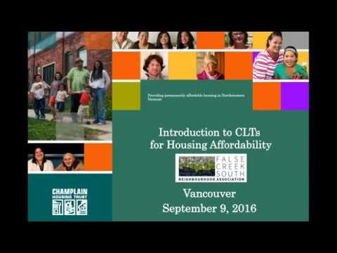 Community Land Trusts for Affordable Housing (Presentation by Brenda Torpy)