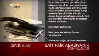 Sait Faik Abasıyanık - Son Kuşlar - Devrialem - TRT Avaz