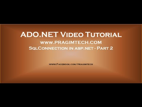 SqlConnection in asp.net - Part 2