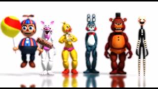 FNAF Five Nigths at Freddy's 2 Minions bananas song