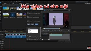 Xóa che mặt người trong video Motion Tracking in PowerDirector 18
