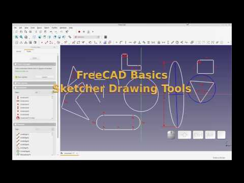 FreeCAD – Basics – Using Sketcher Workbench Drawing Tools