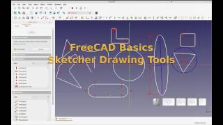 FreeCAD - Basics - Using Sketcher Workbench Drawing Tools