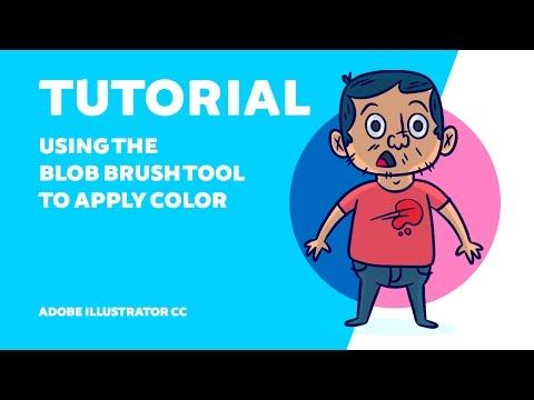 TUTORIAL | Using The Blob Brush Tool To Apply Color - Adobe Illustrator CC