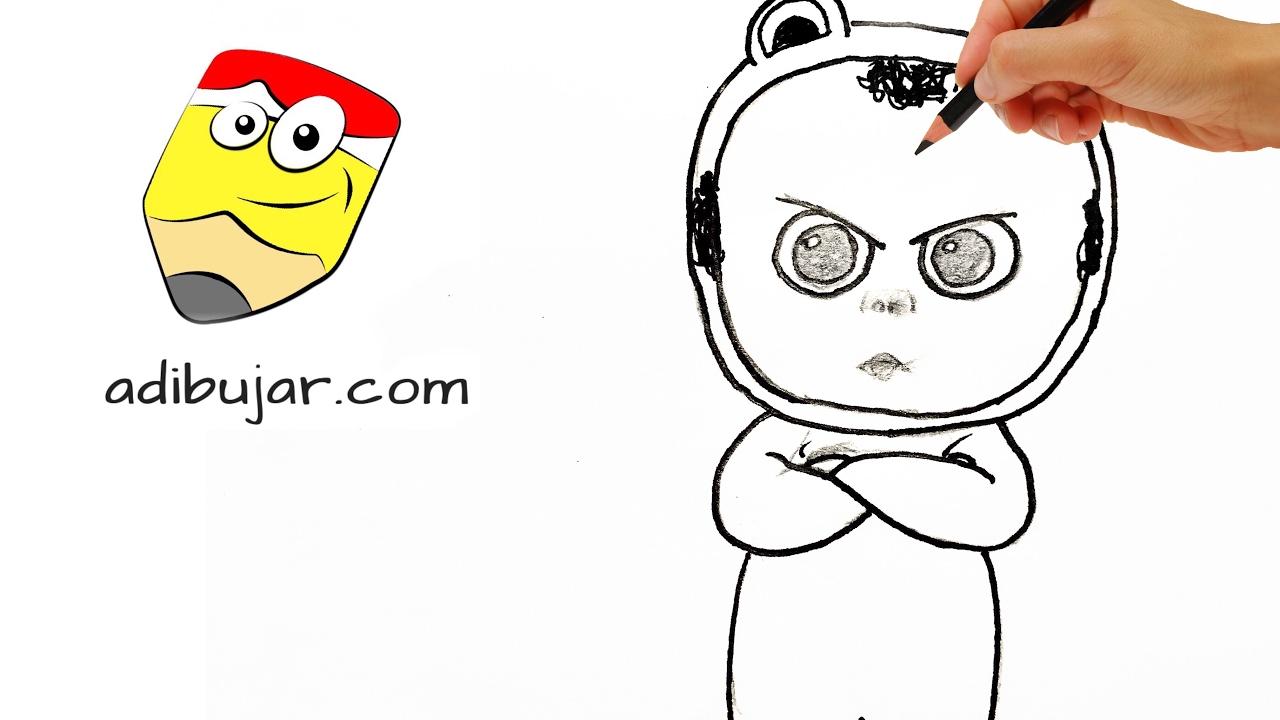 Cómo dibujar al trillizo rana (Bebé Jefazo - Jefe en Pañales ...