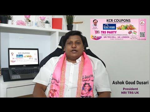 #KCRcoupons - Ashok Goud Dusari - President NRI TRS UK