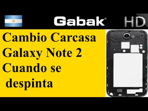 cambio de carcaza aro plateado Galaxy note 2 (cuando se despinta)