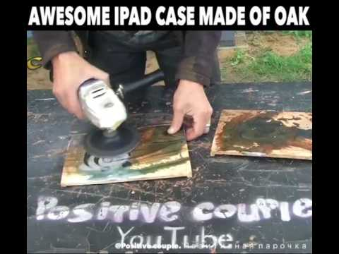 How to made  ipad cover from wood ....