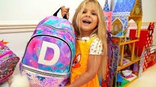 ديانا تستعد للذهاب إلى المدرسة – روتين الصباح