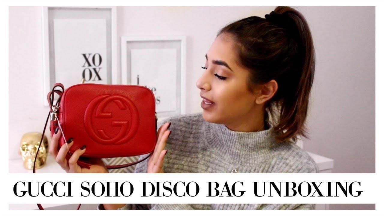 9087edf2e671a8 IT'S BEING DISCONTINUED?! RED GUCCI SOHO DISCO BAG || Eliana Jalali ...