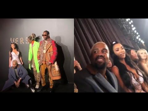 """KANYE WEST """"STEALS EARRING AT VERSACE FASHION SHOW THAT FELL ON THE RUNWAY WITH 2CHAINZ & KIM"""" Mp3"""