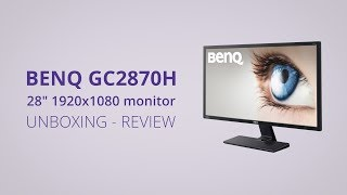 "BenQ GC2870H 28"" 1080p VA LED Display - Unboxing & Review - Input Lag, Calibration, Ghosting Test"