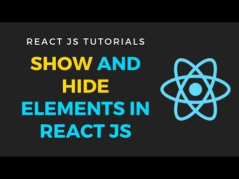 React Js - Show and hide elements based on state