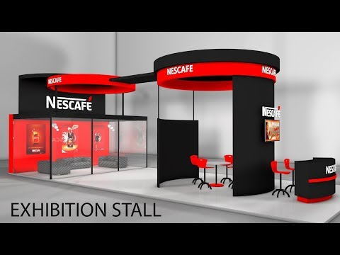 Cinema 4D Modeling Tutorial - Exhibition Stall Modeling in C4D